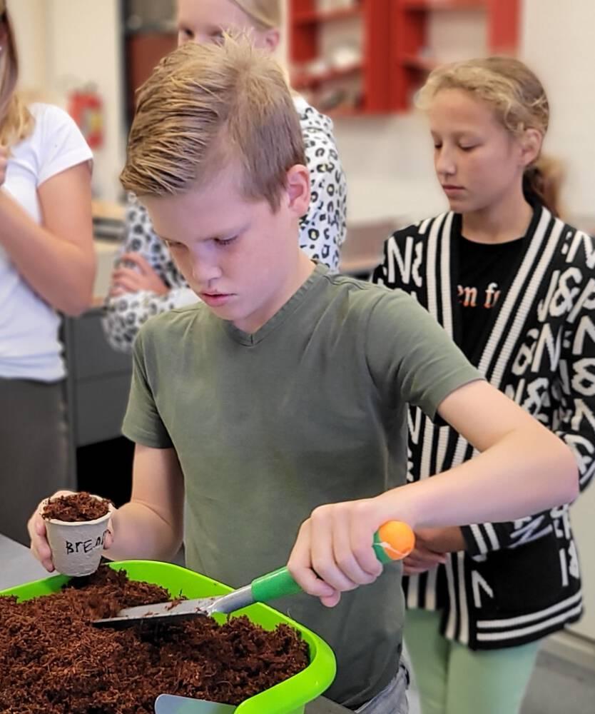 Kick off 'Jong leren' eten op AMS